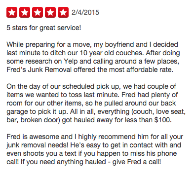Junk Removal reviews