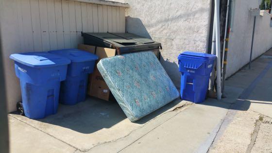 mattress in alley