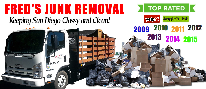 San Diego Junk Removal - Fred's Junk Removal - Hauling Service